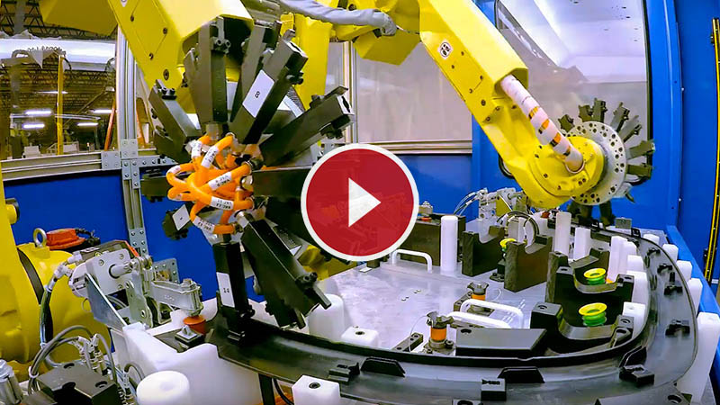 Robotic Plastic Clip Assembly Pre-engineered Cell