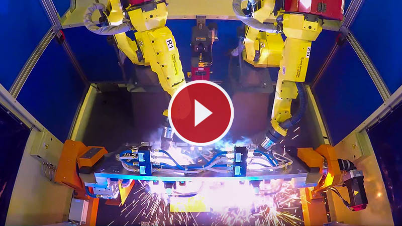 Robotic Welding Cell with Dial Trunnion