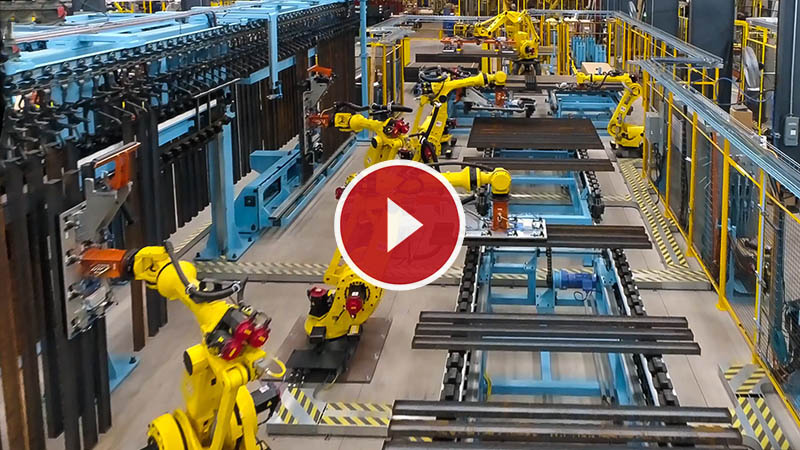 Automated Material Handling Steel Industry